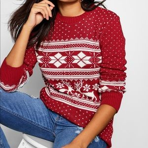 NWOT Holiday Reindeer Fair Isle Sweater